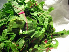 Pile of Chopped Swiss Chard