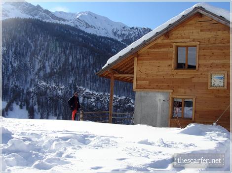 Next to Nil's dad's cabin at Molines en Queyras