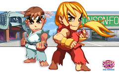 Puzzle Fighter Street Fighter Ken Ryu