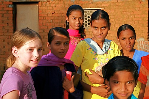 Meeting the girls in Dharwad