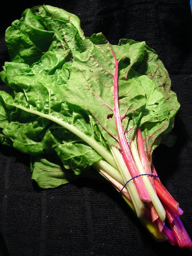 Rainbow Swiss Chard leaves