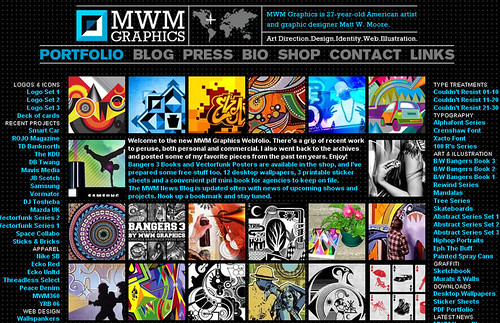 MWM Graphics new site screenshot (Sep 07)
