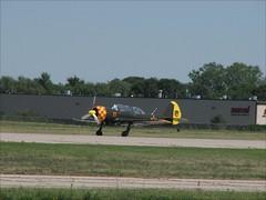 Yak-52 landing EAA Airventure 2007