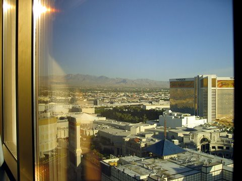 Vegas hotel view