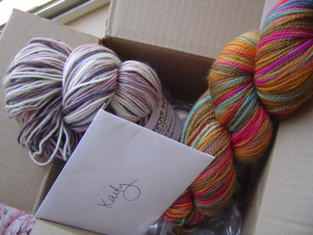 Lucky! I got sock yarn!