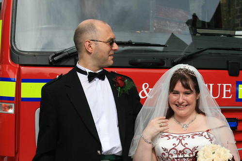 Every wedding should have a fire engine