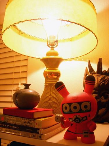 new green cowboy lamp