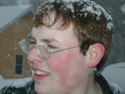 Jeremy on a snowy day