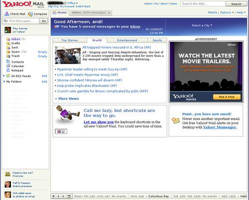 Yahoo! Mail Beta Version