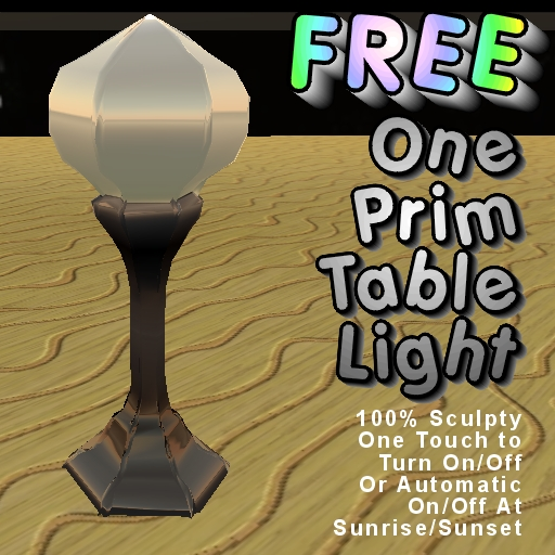 One Prim Table Light