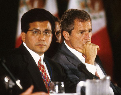 Alberto Gonzales and Governor George W. Bush, Texas 1998
