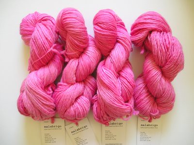 shocking pink Malabrigo