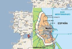 Melilla es una ciudad española situada en el norte de África. / Google Maps