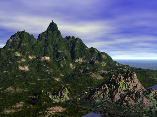 Seaside Mountain Bryce Render