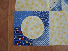 You are my sunshine quilt-corner closeup