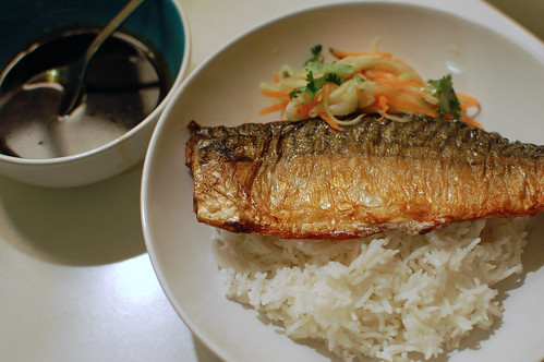 Mackerel with a Soy-Honey Glaze