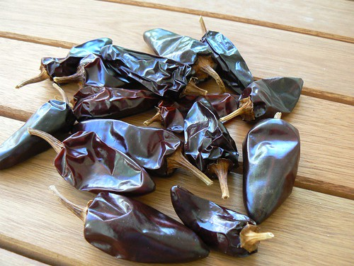 dried black hungarian peppers