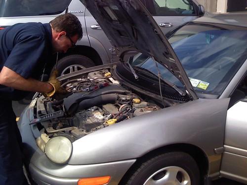 AAA replacing my car battery