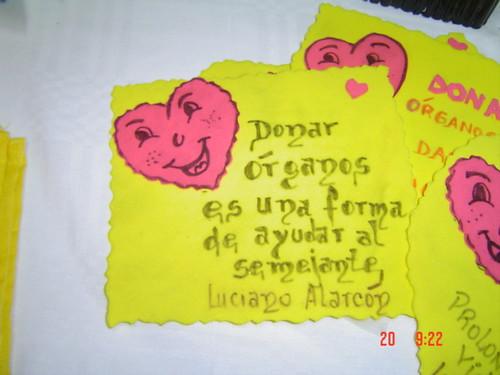 Tarjetas de donación de órganos