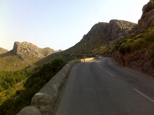 carretera que sube al cabo de formentor