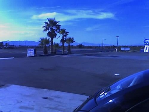 Gassing up in Needles, California