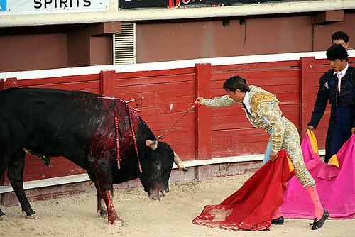 Estocada Toreador Bullfight Plaza de Toros and Folkloric Show Cancun Mexico trip 2007 2 126