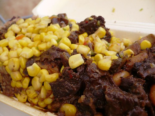 Oxtail, Butter Beans, Corn Salad