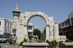 Roman arch, Straight Street, Damascus.