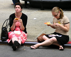 Dining on the curb