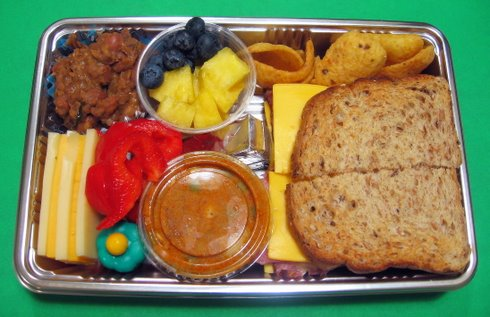 Disposable airplane lunch