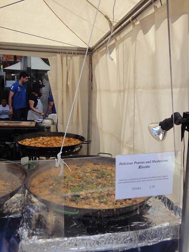 Norton Street Italian Festa: Prawns & mushroom risotto