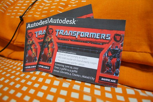 Transformers the Movie invites