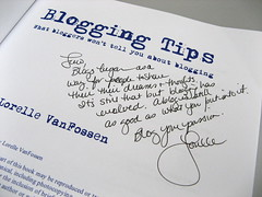 Blogging Tips, signed by Lorelle VanFossen