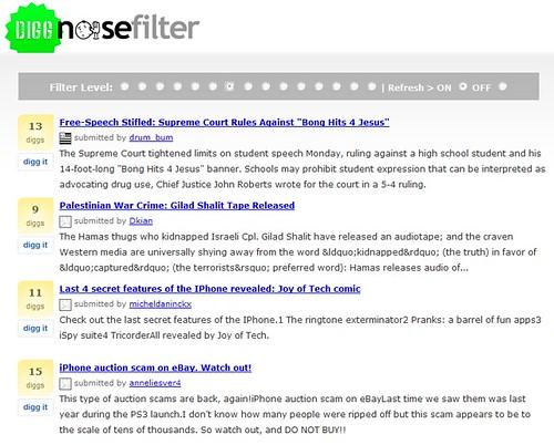 Digg Noisefilter