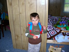 charlie's first day at pre school
