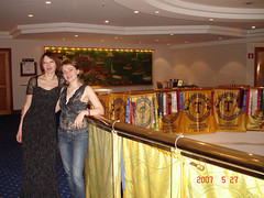 Yulia Usova and Olga Pogolyelova at the Gala Dinner, second day of the Conference.