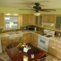Modern elegant kitchen interior design with wooden kitchen cabinet