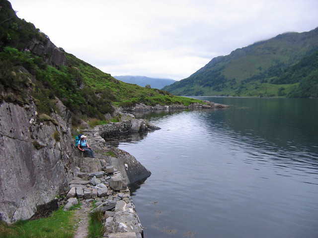Approaching Kinloch Hourn