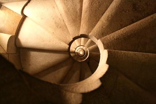 Σκάλα από το εσωτερικό της Sagrada Familia