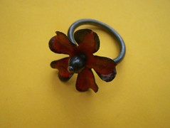 Enamelled Flower Ring by rubygirl jewelry