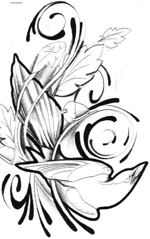 sketch tattoos magpie tattoo sketches drawing designs tattos unique patterns thigh