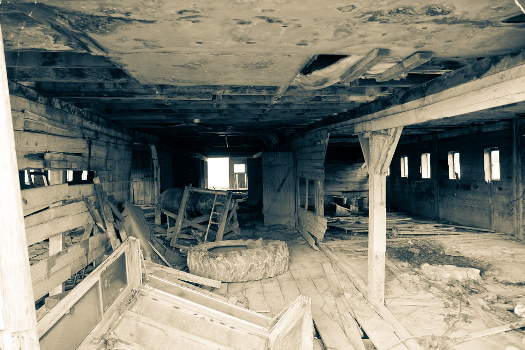 Abandoned barn interior