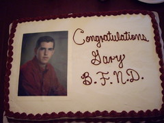 Gary's graduation cake