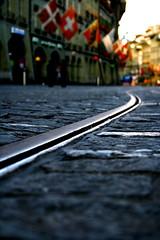 tram goes by