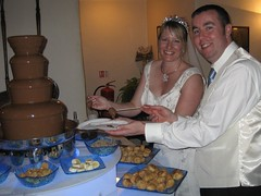 Couple at Chocolate Fountain