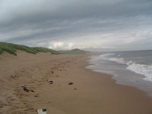 stranden vid Balmedie. vädret var väl kanske inte det bästa