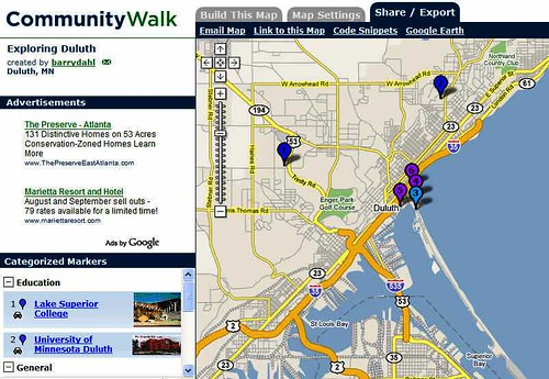 Community Walk Map of Duluth