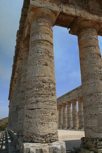 Columns at Segesta Temple, Sicily