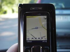 Nokia E90 Communicator, small screen Navi