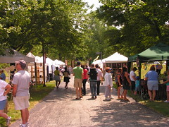 Stalls at the Summer Festival of the Arts